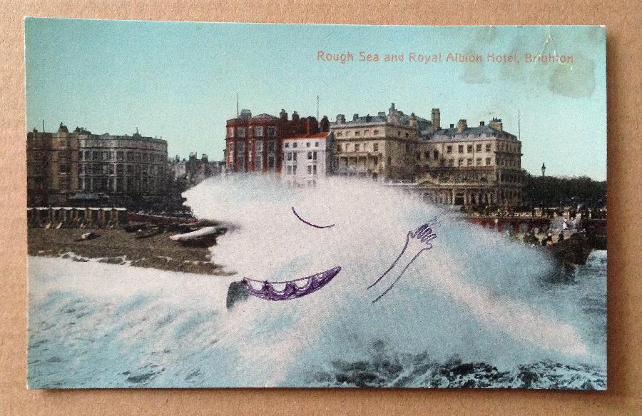 sandrine estrade boulet - dessin-sur-vieille-carte-postale-sandrineboulet
