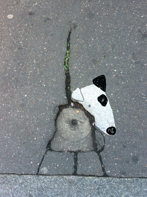 sandrine estrade boulet - le-troulou-du-bitume-asphalt-doggy--sandrine-boulet