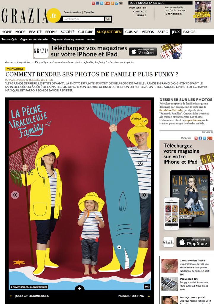sandrine estrade boulet - GRAZIA WEB X POTRAIT DE FAMILLE